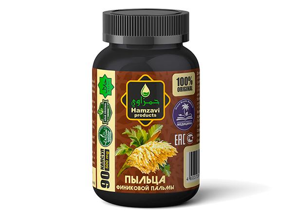 «ПЫЛЬЦА ФИНИКОВОЙ ПАЛЬМЫ» в формате 90 шт халяльных капсул по 500 мг