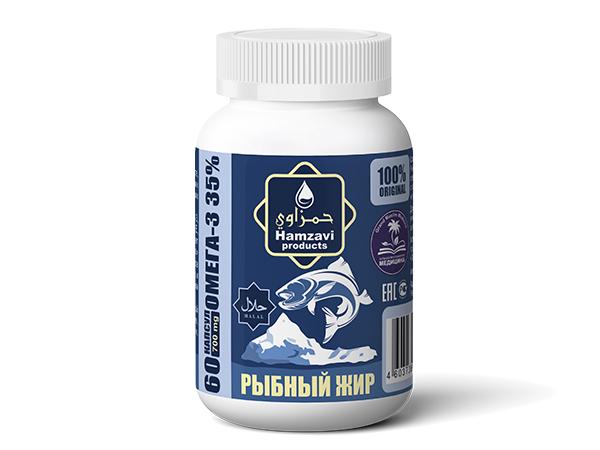 «РЫБНЫЙ ЖИР» 60 шт халяльных капсул по 700 мг