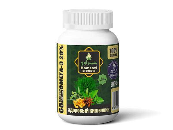 «ЗДОРОВЫЙ КИШЕЧНИК» 60 шт халяльных капсул по 700 мг